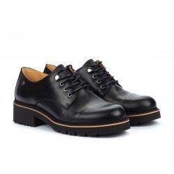 Zapatos Tacon Bajo Mujer Pikolinos Vicar W0V-4900 Negro