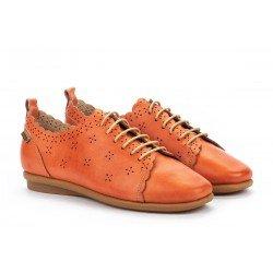 Zapatos Planos Mujer Pikolinos Calabria W9K-4833 Rojo Escarlata