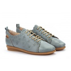 Zapatos Planos Mujer Pikolinos Calabria W9K-4833 Azul Denim