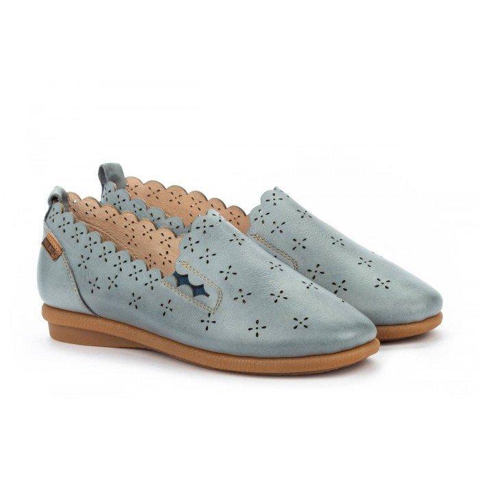 Zapatos Planos Mujer Pikolinos Calabria W9K-3714 Azul Denim