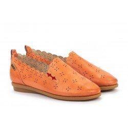 Zapatos Planos Mujer Pikolinos Calabria W9K-3714 Rojo Escarlata