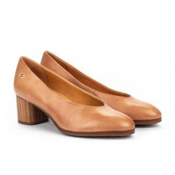 Zapatos Tacon Alto Mujer Pikolinos Calafat W1Z-5512 Beige Terracota