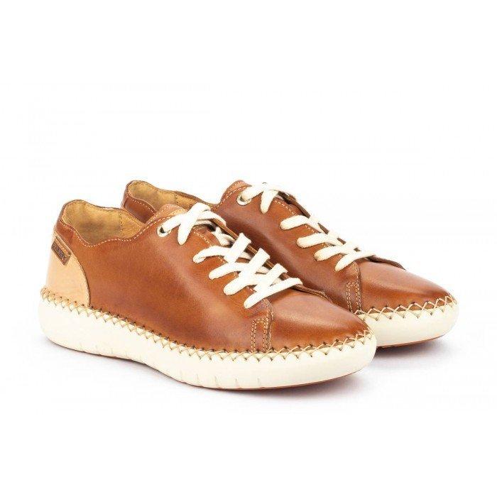 Zapatos Planos Mujer Pikolinos Mesina W0Y-6836 Cuero Brandy