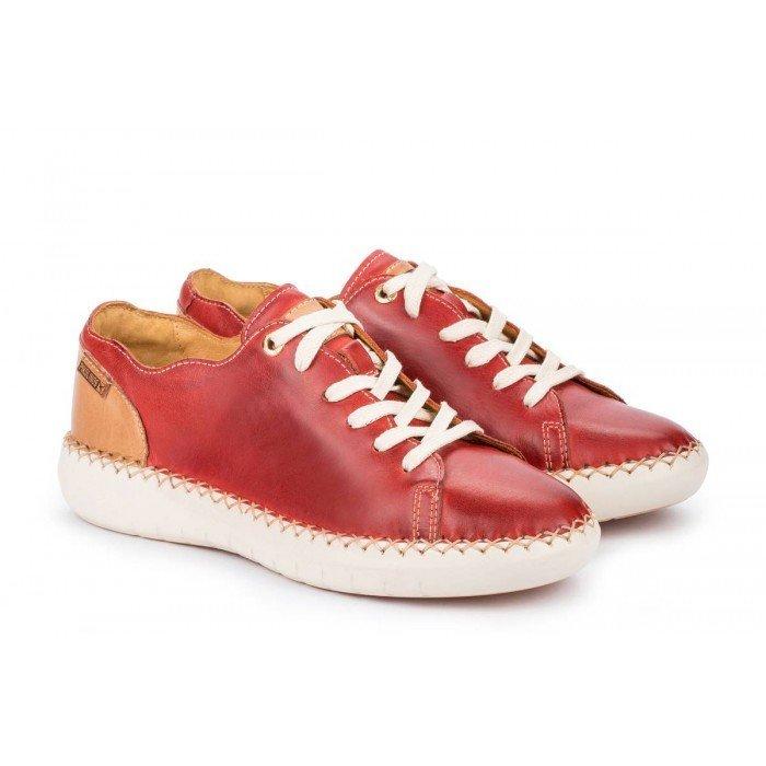 Zapatos Planos Mujer Pikolinos Mesina W0Y-6836 Rojo Coral