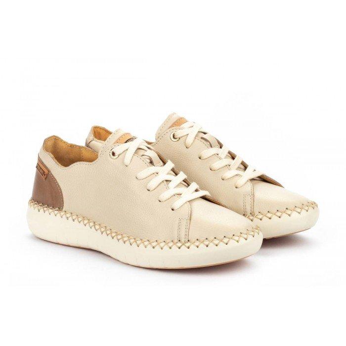 Zapatos Planos Mujer Pikolinos Mesina W0Y-6836 Blanco Marfil