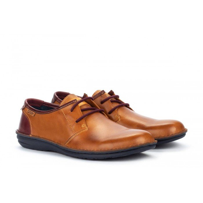 Zapatos Blucher Hombre Pikolinos Santiago M8M-4298C1 Cuero Brandy