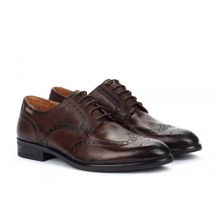 Zapatos Blucher Hombre Pikolinos Bristol M7J-4186 Marrón Olmo