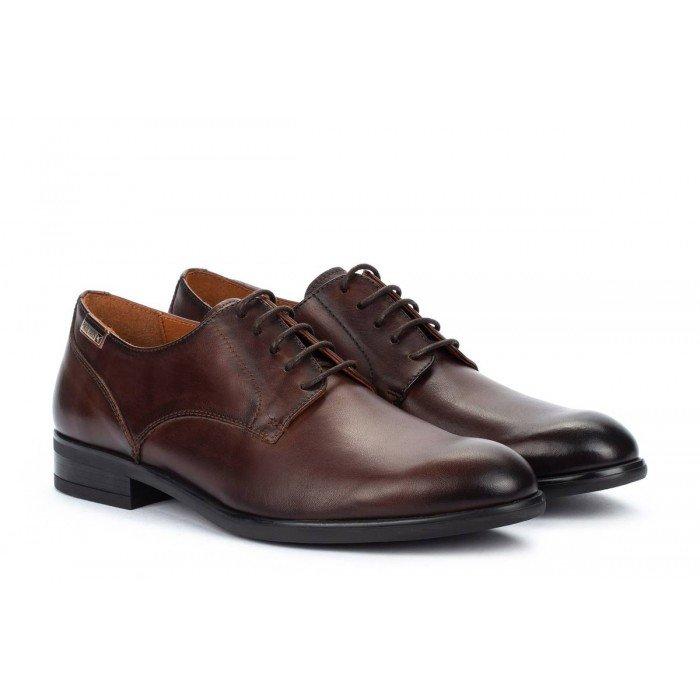 Zapatos Blucher Hombre Pikolinos Bristol M7J-4187 Marrón Olmo
