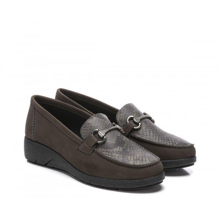 Zapatos Mocasines Mujer 24 Hrs 24242 Marrón