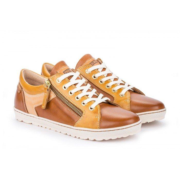 Zapatos Deportivos Mujer Pikolinos Lagos 901-6766C2 Cuero Brandy