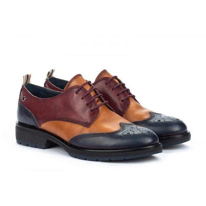Zapatos Tacon Bajo Mujer Pikolinos Caravaca W2U-4761C1 Azul