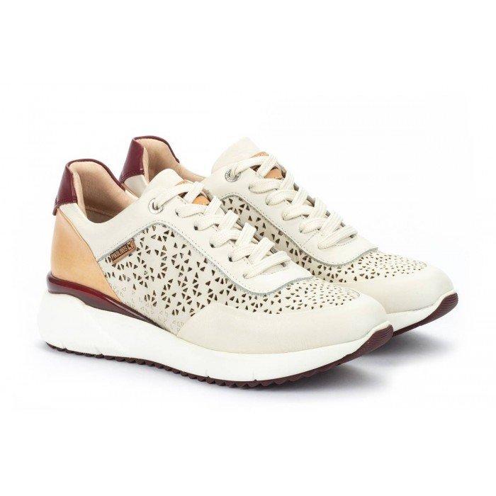 Zapatos Deportivos Mujer Pikolinos Sella W6Z-6869C1 Blanco Nata