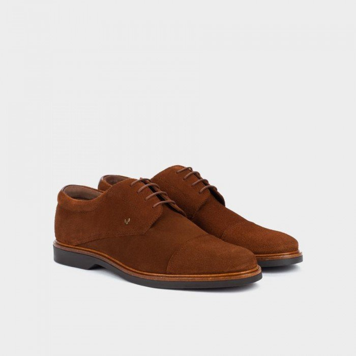 Zapatos Blucher Hombre Martinelli Lenny 1384-1683X Marrón Nuez