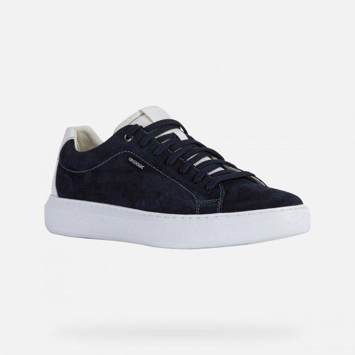 Zapatos Deportivos Hombre Geox Deiven Azul Marino
