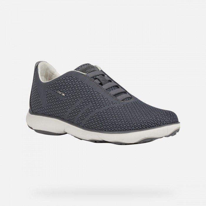 Zapatos Deportivos Hombre Geox Nebula Man Gris Oscuro
