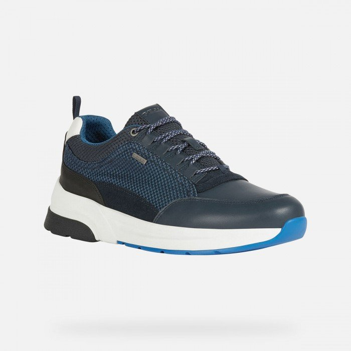 Zapatos Deportivos Hombre Geox Rockson Azul Marino