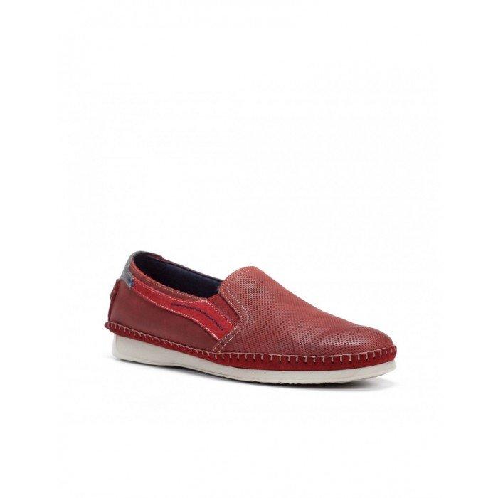 Zapatos Mocasines Hombre Fluchos Komodo F0198 Rojo Terracota