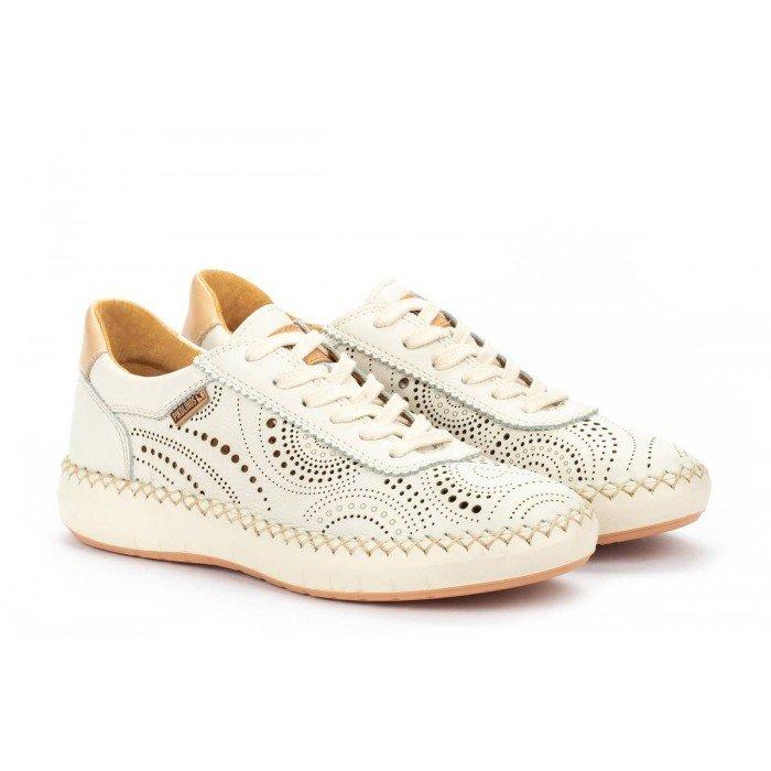 Zapatos Deportivos Mujer Pikolinos Mesina W6B-6996 Blanco Nata