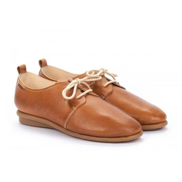 Zapatos Mujer Pikolinos Calabria W9K-4985 Cuero Brandy