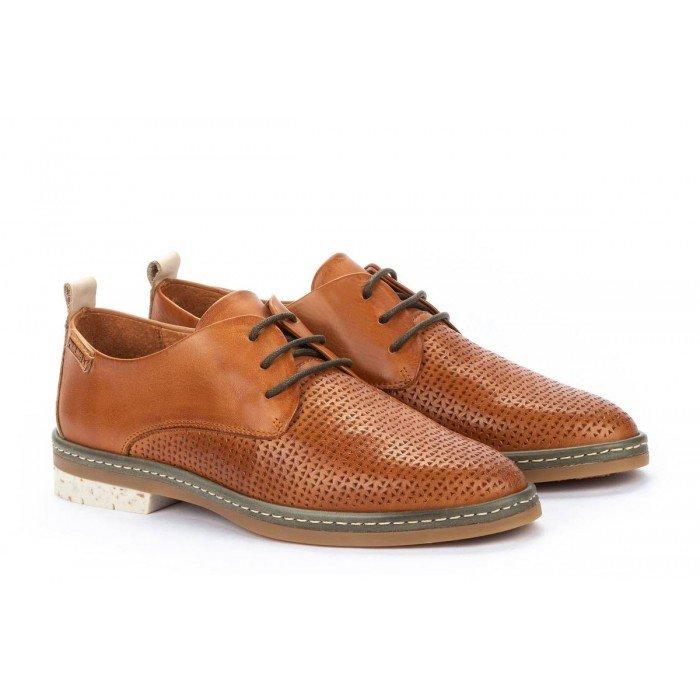 Zapatos  Mujer Pikolinos Santander W7C-4987C1 Cuero Brandy