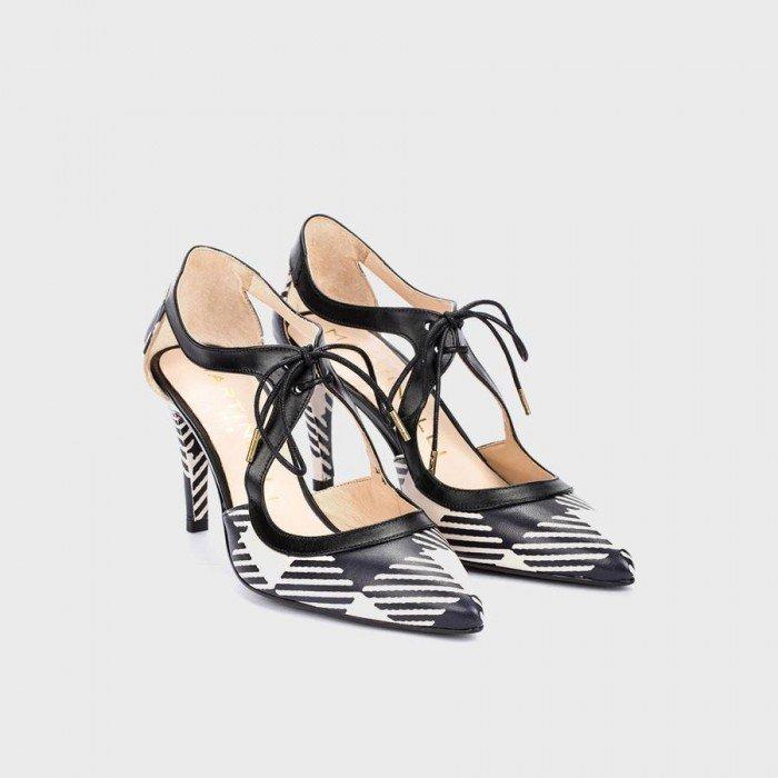 Zapatos Mujer Martinelli Selena 1365-3498G Taupe-Negro