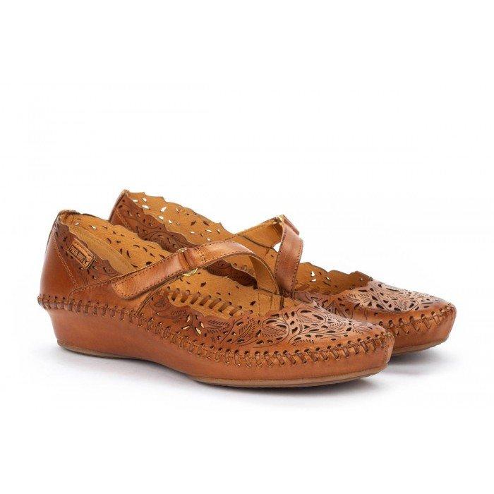 Zapatos Mujer Pikolinos P.Vallarta 655-0898 Cuero Brandy