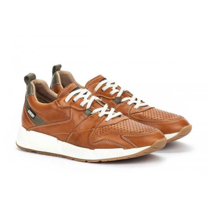 Zapatos Hombre Pikolinos Meliana M6P-6322 Cuero Brandy