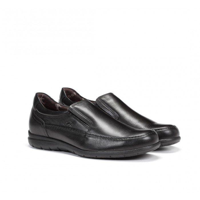 Zapatos Mocasines Hombre Fluchos Luca 8499 Piel Ave Negro