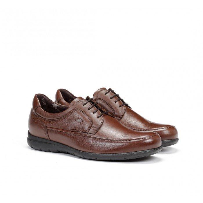 Zapatos Hombre Fluchos Luca 8498 Piel Ave Marrón Café