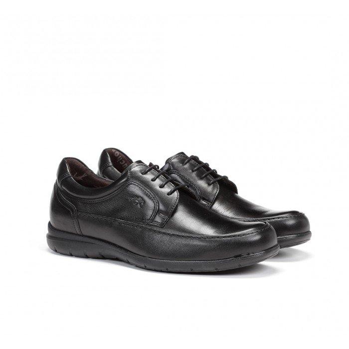 Zapatos Hombre Fluchos Luca 8498 Piel Ave Negro
