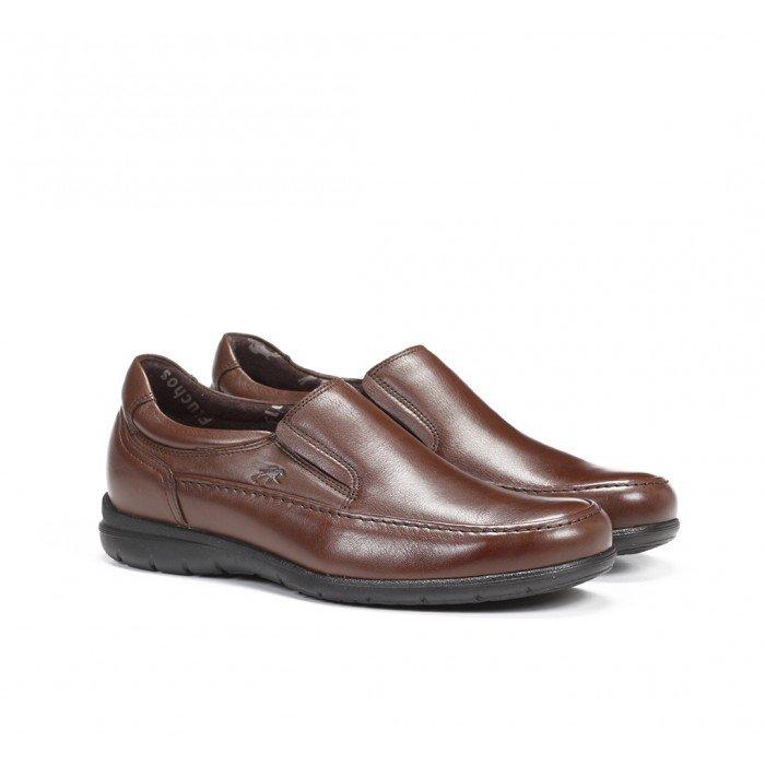 Zapatos Hombre Mocasín Fluchos Luca 8499 Piel Ave Marrón Café