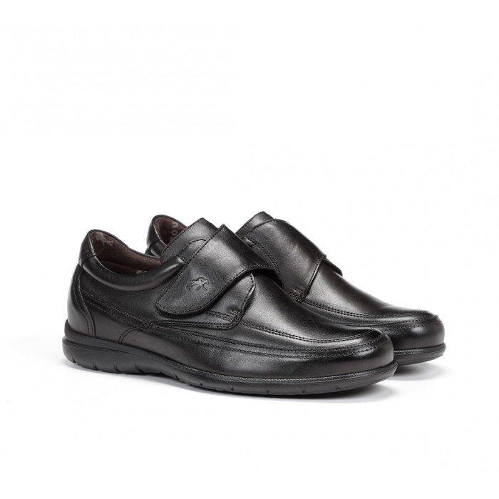 Zapatos Hombre Velcro Fluchos Luca 8782 Ave Negro