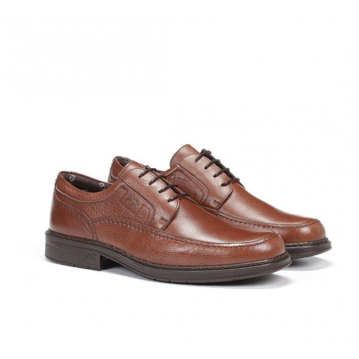 Zapatos Hombre Cordones Fluchos Clipper 9579  Marrón Líbano