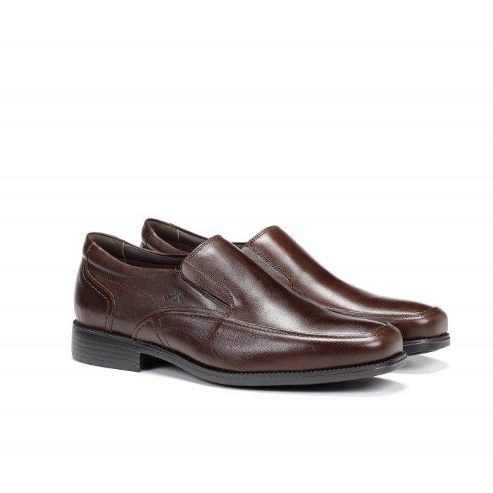 Zapatos Mocasines Hombre Fluchos Rafael 7996 Marrón Café