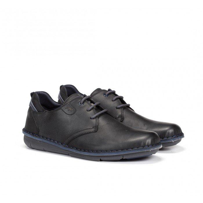 Zapatos Hombre cordones Fluchos Alfa F0700 Negro