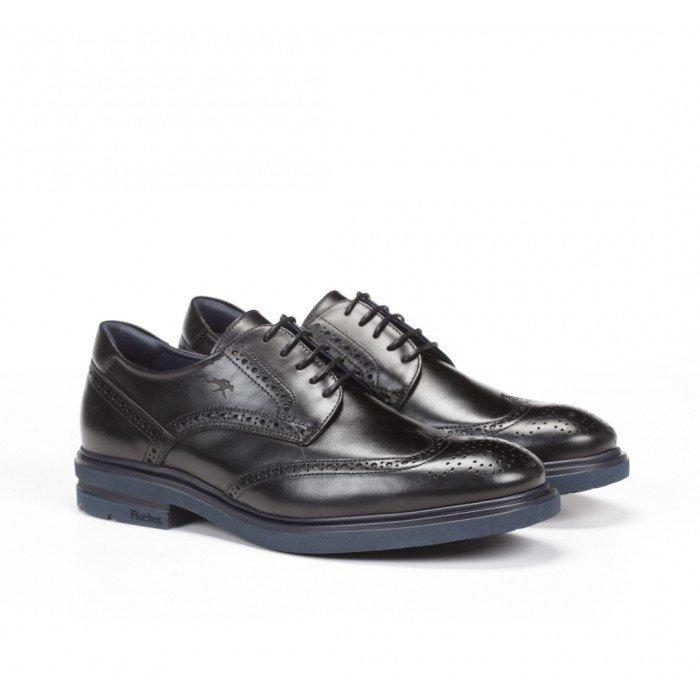 Zapatos Hombre Fluchos Belgas F0628 Negro
