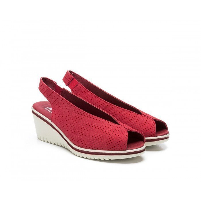Sandalias Mujer 24 Hrs 24440 Rojo