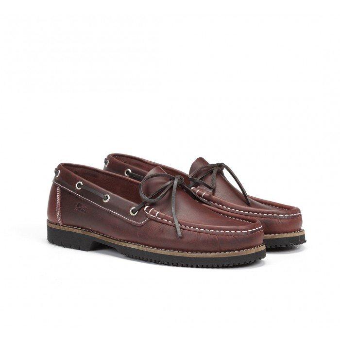 Zapatos Hombre Náuticos Fluchos Tanvi 156 Engrasado Burdeos