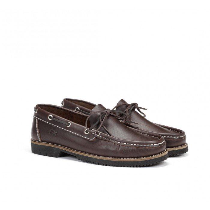 Zapatos Náuticos Hombre Fluchos Tanvi 156 Engrasado Marrón