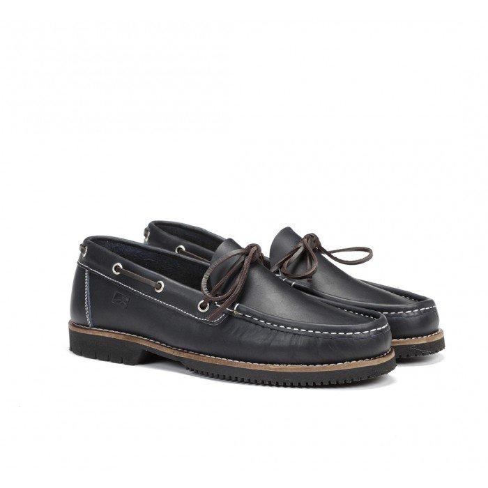Zapatos Náuticos Hombre Fluchos Tanvi 156 Engrasado Azul