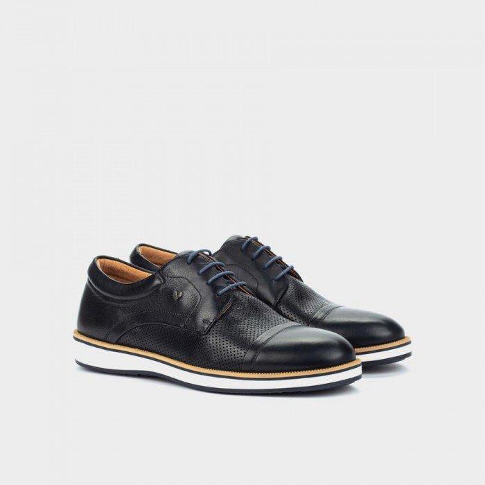 Zapatos Blucher Hombre Martinelli Brody 1419-2029S Azul Marino
