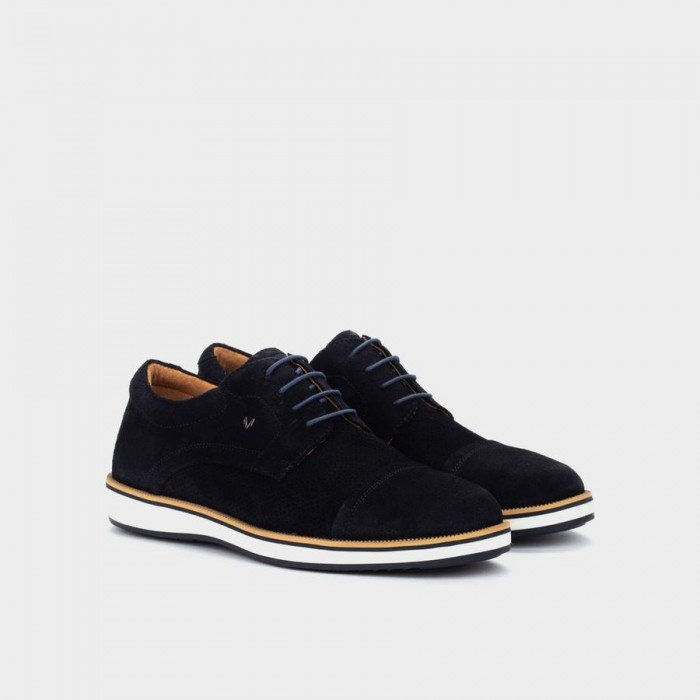 Zapatos Blucher Hombre Martinelli Brody 1419-2029X Azul Oscuro