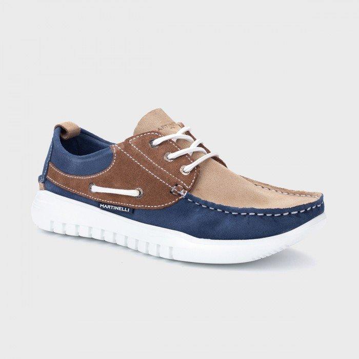 Zapatos Nauticos Hombre Martinelli Jay 1496-0968X Marrón Sandstone / Azul Bluejeans