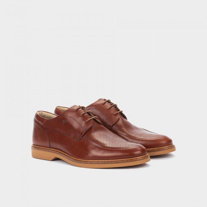 Zapatos Blucher Hombre Martinelli Lenny 1384-1687F Cuero Brandy