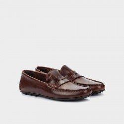 Zapatos Castellanos Hombre Martinelli Pacific 1411-2496B Marrón Cognac