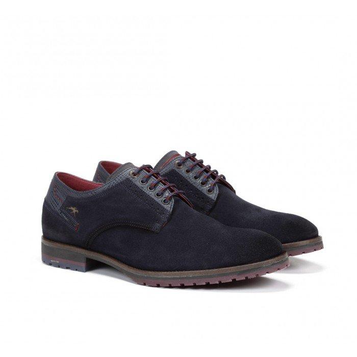 Zapatos Hombre Fluchos Ciclope F0273 Afelpado Marino