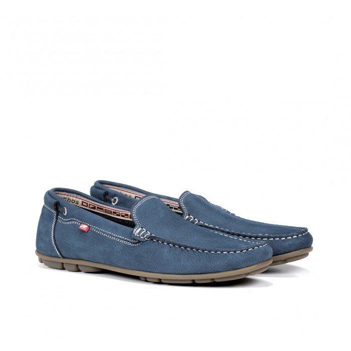 Zapatos Mocasines Hombre Fluchos Silva 9075 Azul Jeans