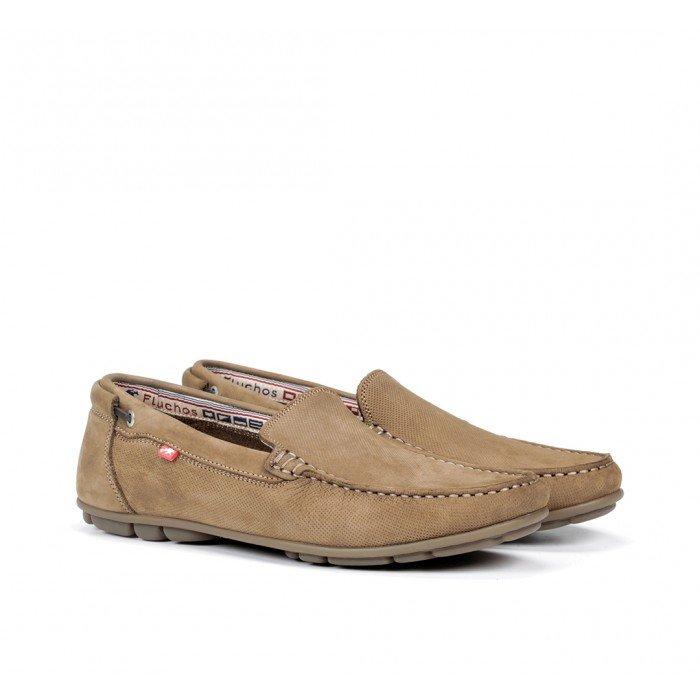 Zapatos Mocasines Hombre Fluchos Silva 9075 Taupe Visión