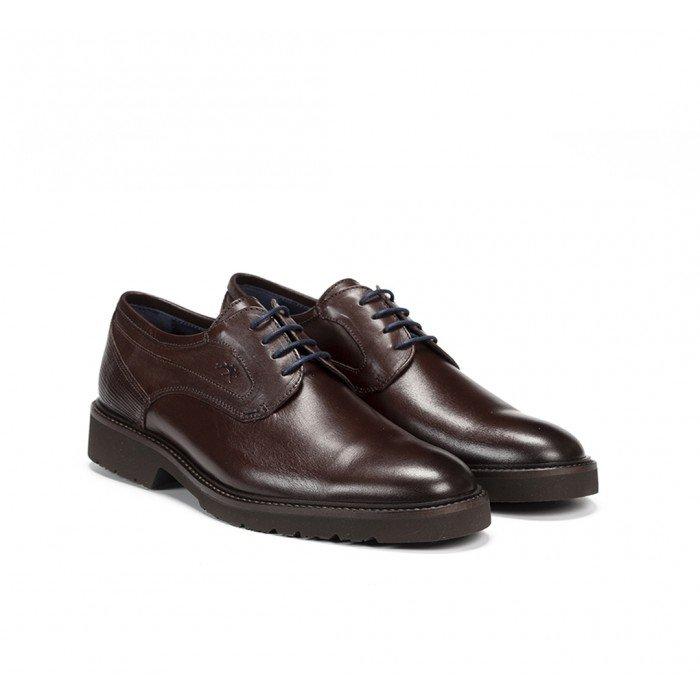 Zapatos Hombre Fluchos Cavalier 9518 Marrón Castaño