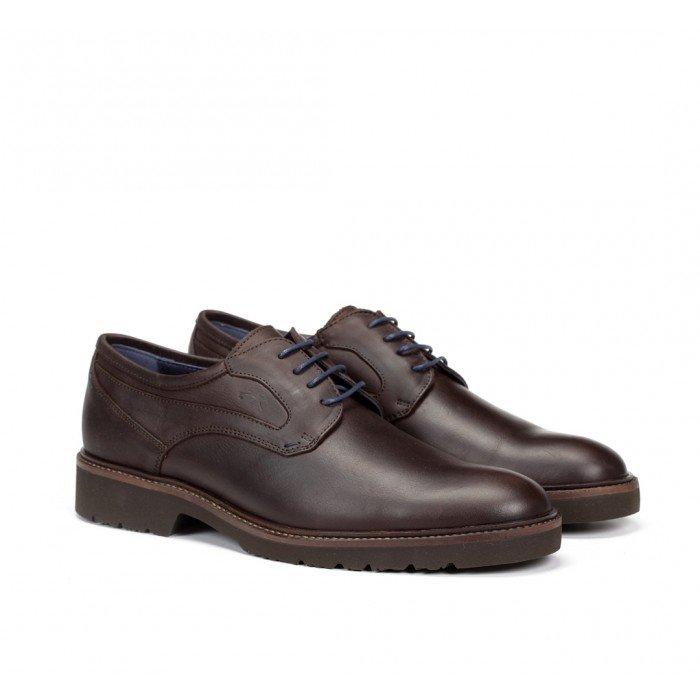 Zapatos Hombre Fluchos Cavalier 9518W Grass Marrón Brandy